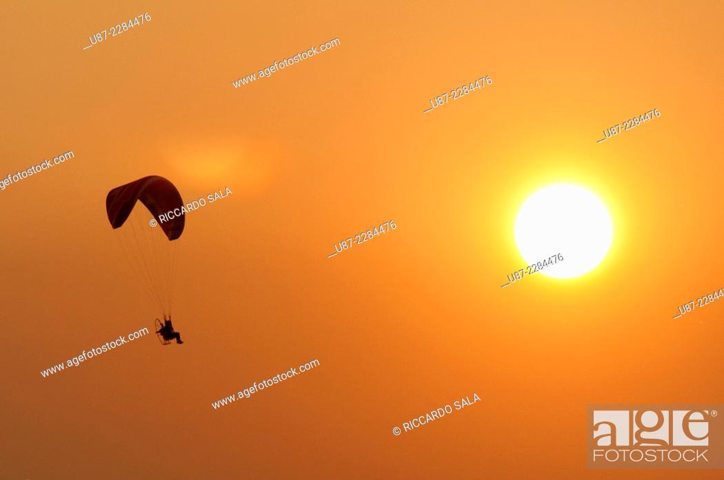 Stock Photo: Para Motor Glider.