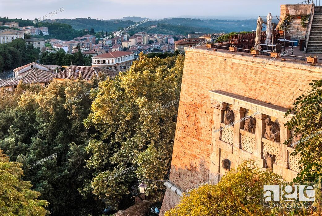 Stock Photo: Rocca Paolina at the old town of Perugia, Umbria, Italy.