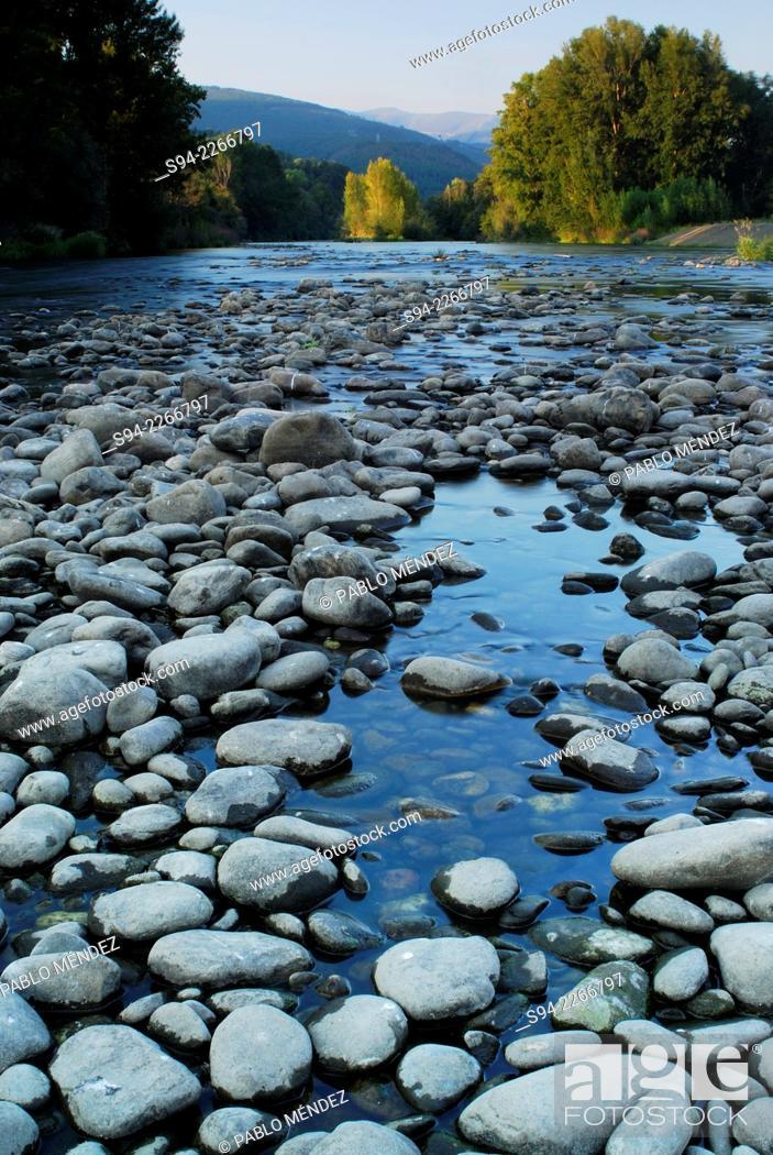 Stock Photo: Sil river landscape in Orense province, Spain.
