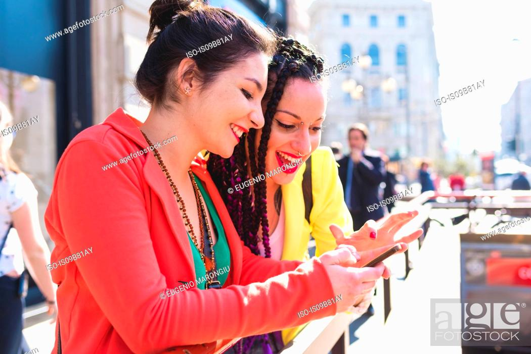 Stock Photo: Women on city break, Milan, Italy.
