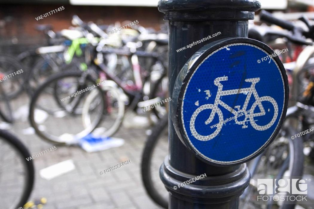 Stock Photo: Bicycles, Board, Conveyance, Cycle Stand, Cycles.