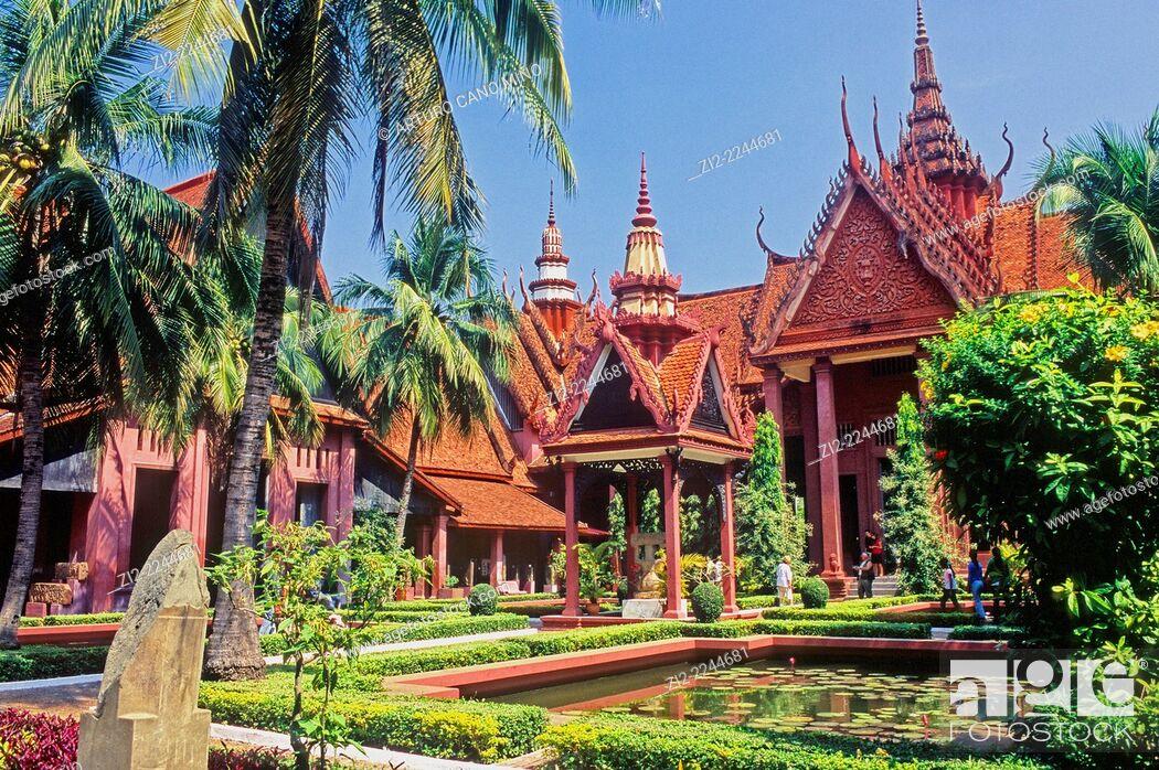 Stock Photo: National Museum, 1920s. Phnom Penh, Cambodia.