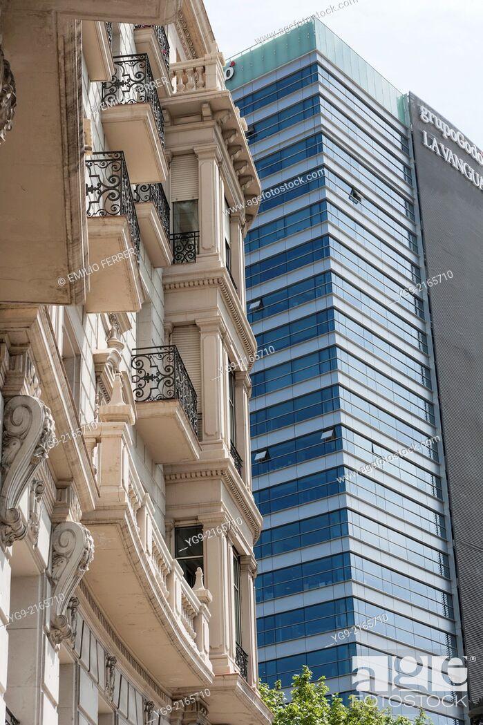 Stock Photo: Buildings in Barcelona. Spain.