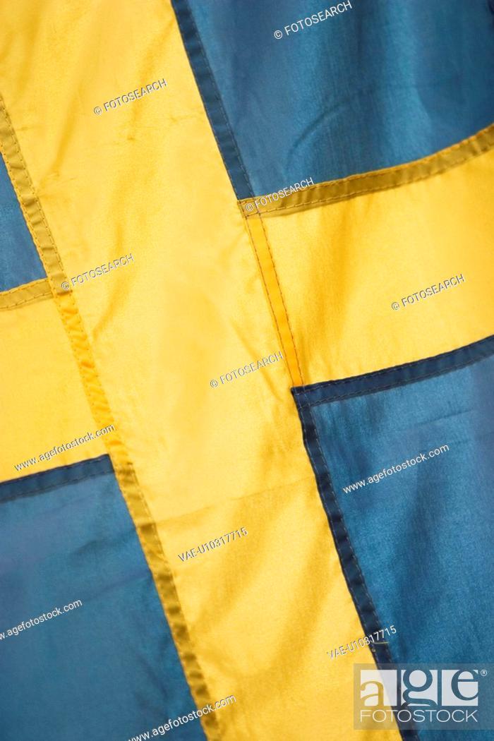 Stock Photo: ethnic, flag, emblem, fabric, texture, material.