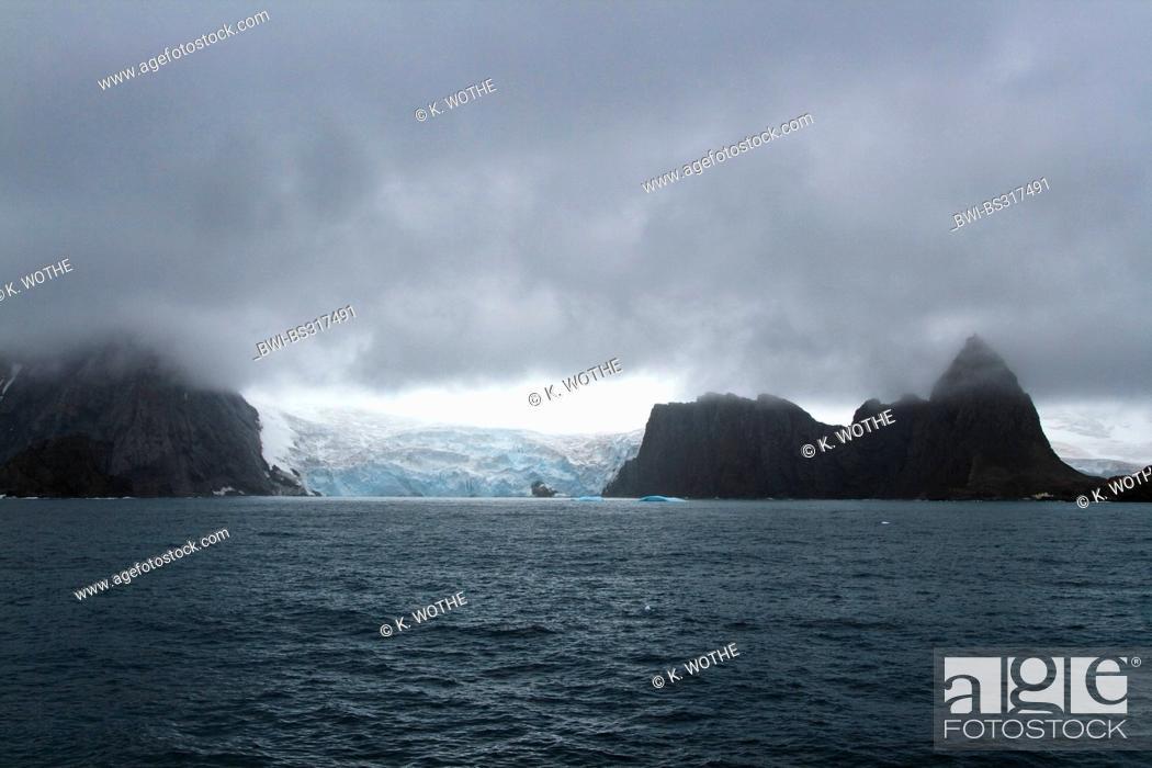Imagen: glacier near Point Wild on Elephant Island, Antarctica, Suedliche Shetlandinseln.