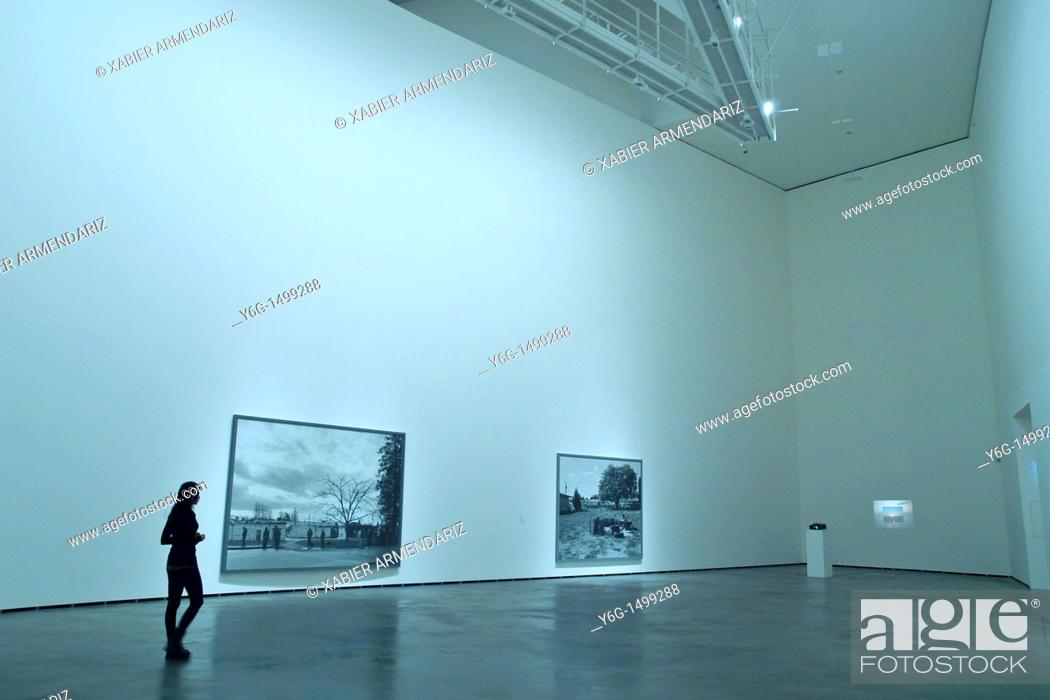 Stock Photo: Modern art exhibition at Guggenheim Bilbao museoa, Bilbao, Basque country, Euskadi, Spain.