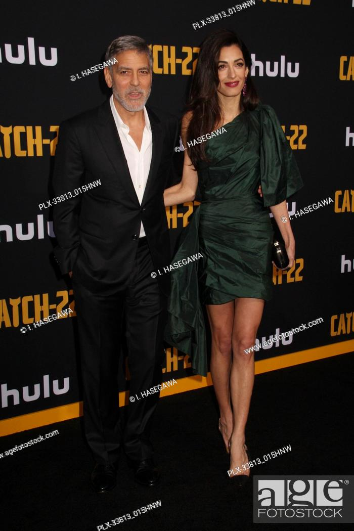 """Stock Photo: George Clooney, Amal Clooney 05/07/2019 The U.S. Premiere of Hulu's """"""""CATCH-22"""""""" held at The TCL Chinese Theatre in Los Angeles, CA Photo by I."""