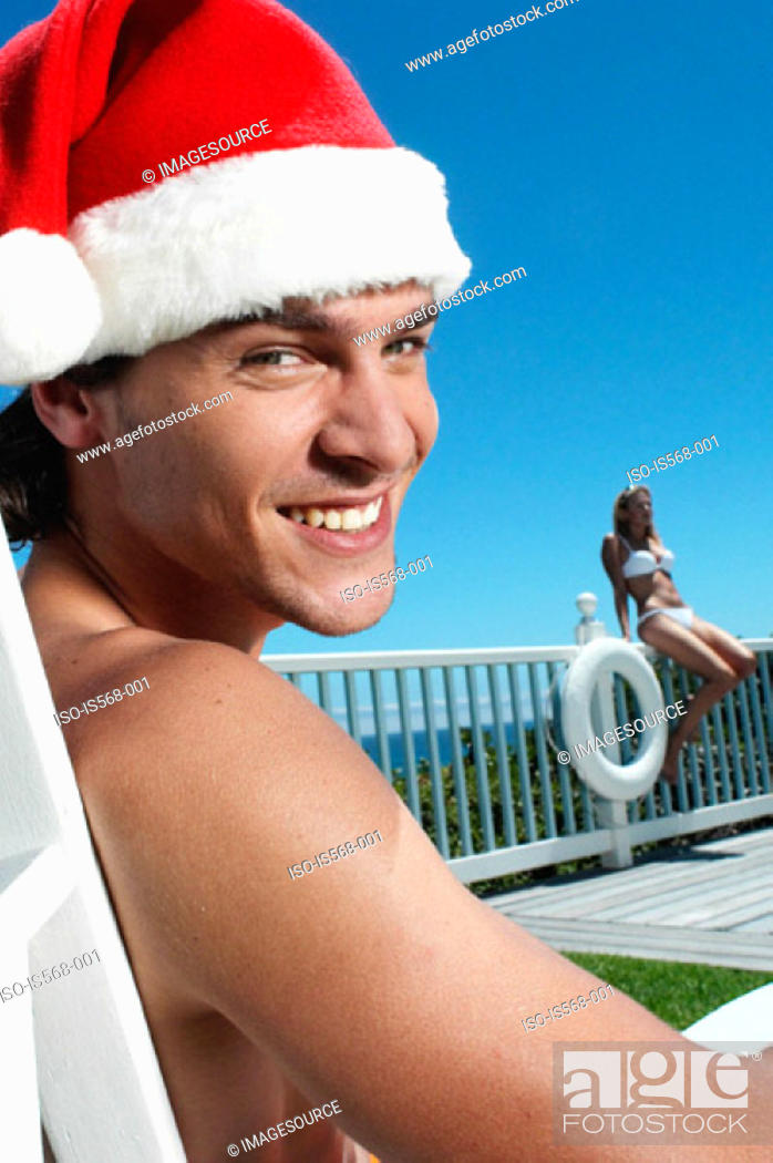 Stock Photo: Christmas in the summer.