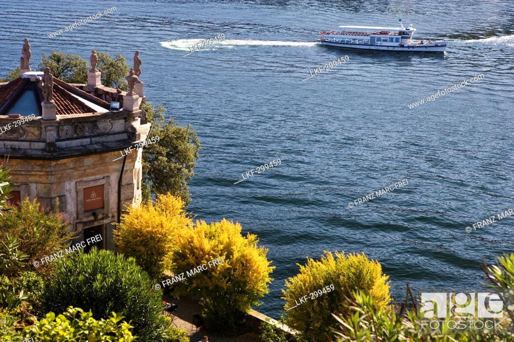 Stock Photo: Garden of baroque Palazzo Borromeo, Isola Bella, Lago Maggiore, Piedmont, Italy.