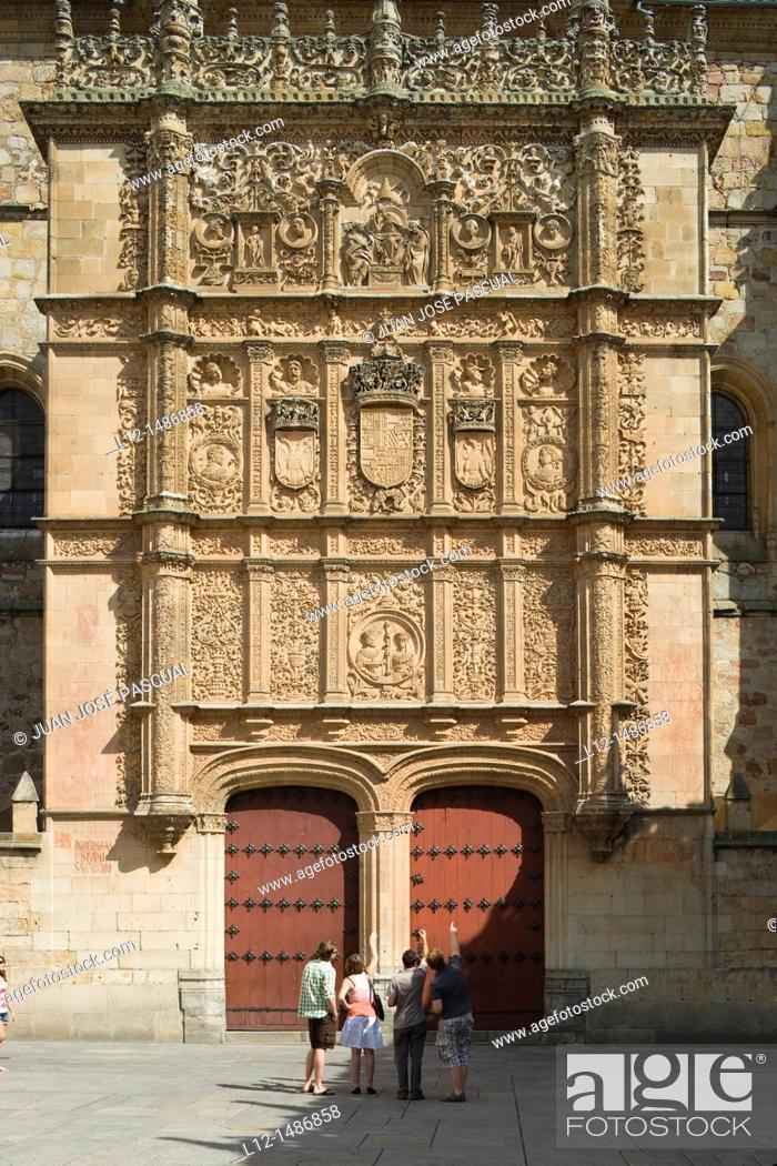 Stock Photo: University, Salamanca, Castilla y León, Spain.