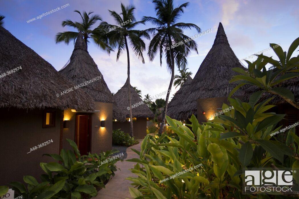 Stock Photo: Constance Hotel Ephelia in Mahe, Seychelles. Part of Morne Seychellois National Park.