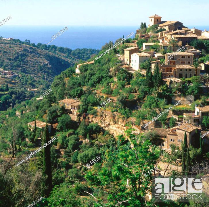 Stock Photo: Deya. Majorca. Balearic Islands. Spain.