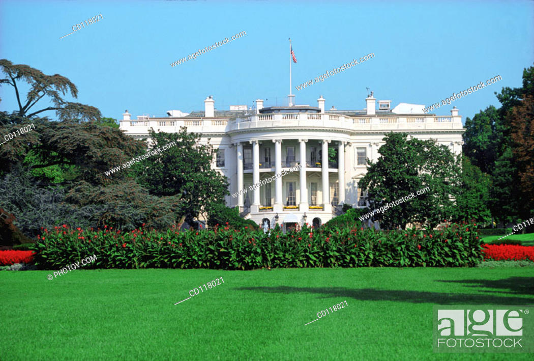 The White House The Official Office And Residence Of The President Of The United States Stock Photo Picture And Royalty Free Image Pic Cd118021 Agefotostock