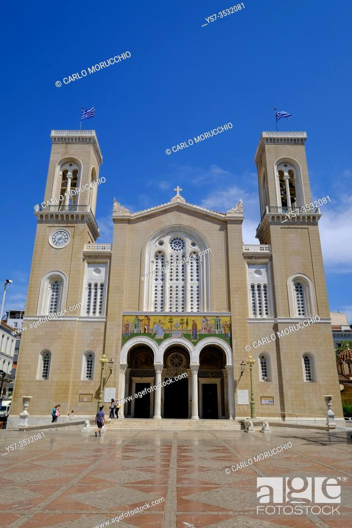 Stock Photo: Metropolitan Cathedral of the Annunciation, Athens, Greece, Europe.