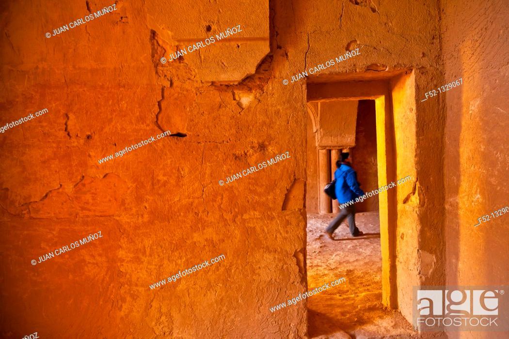 Stock Photo: Desert Castle of Al-Kharaneh, Jordan, Middle East.