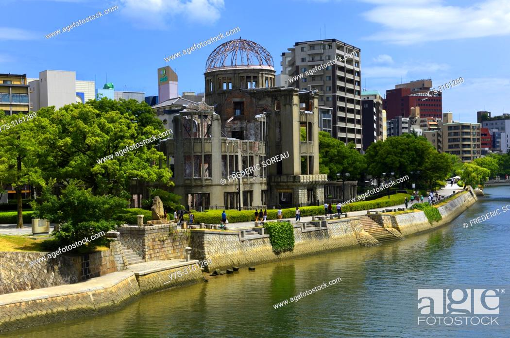 Stock Photo: Atomic Bomb Dome, Unesco World Heritage Site, Hiroshima, Western Honshu, Japan, Asia.