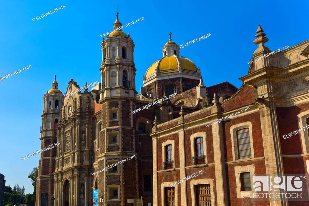 Stock Photo: Low angle view of a cathedral, Basilica De Guadelupe, Mexico City, Mexico.