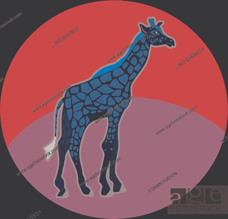 Stock Photo: Illustration of a giraffe.