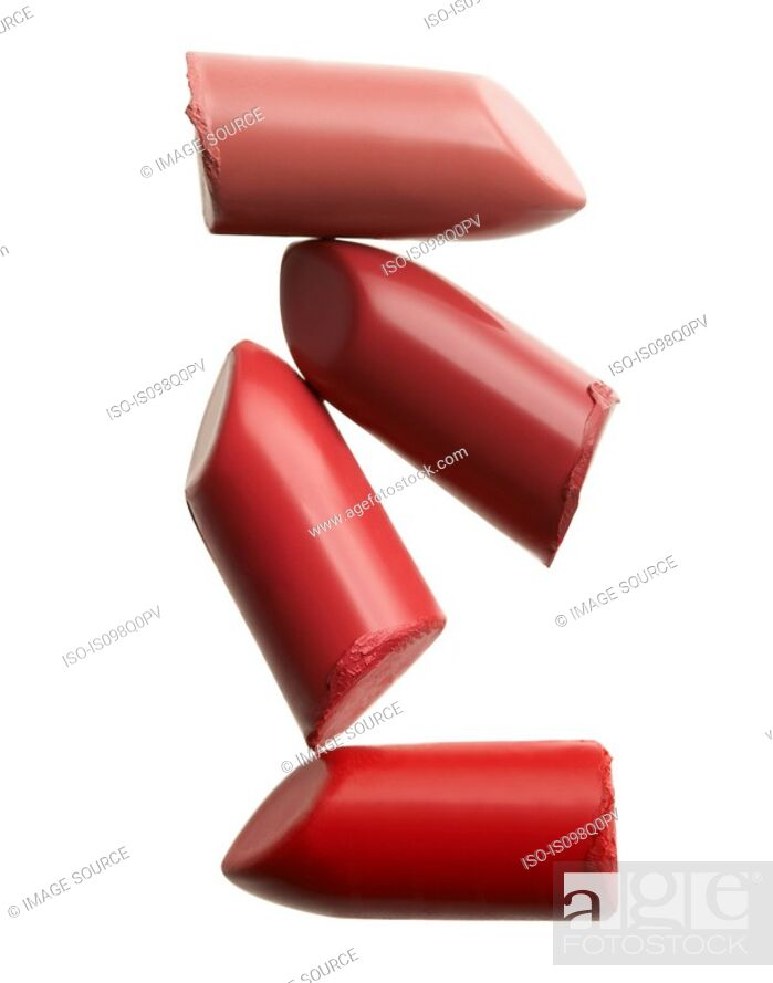Stock Photo: Four lipsticks.