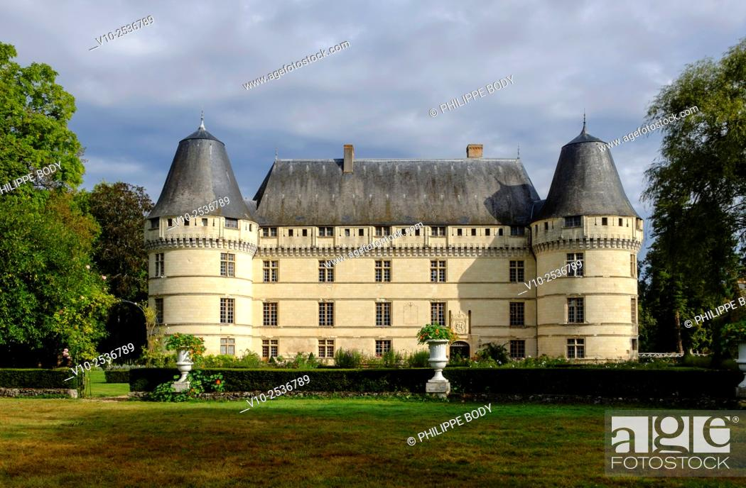 Stock Photo: France, Indre et Loire, Loire Valley on the world Heritage List of UNESCO, castle of Islette, dated 16 th. century.
