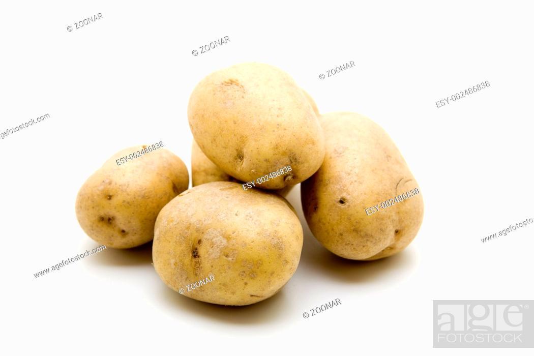 Stock Photo: Raw potatoes.