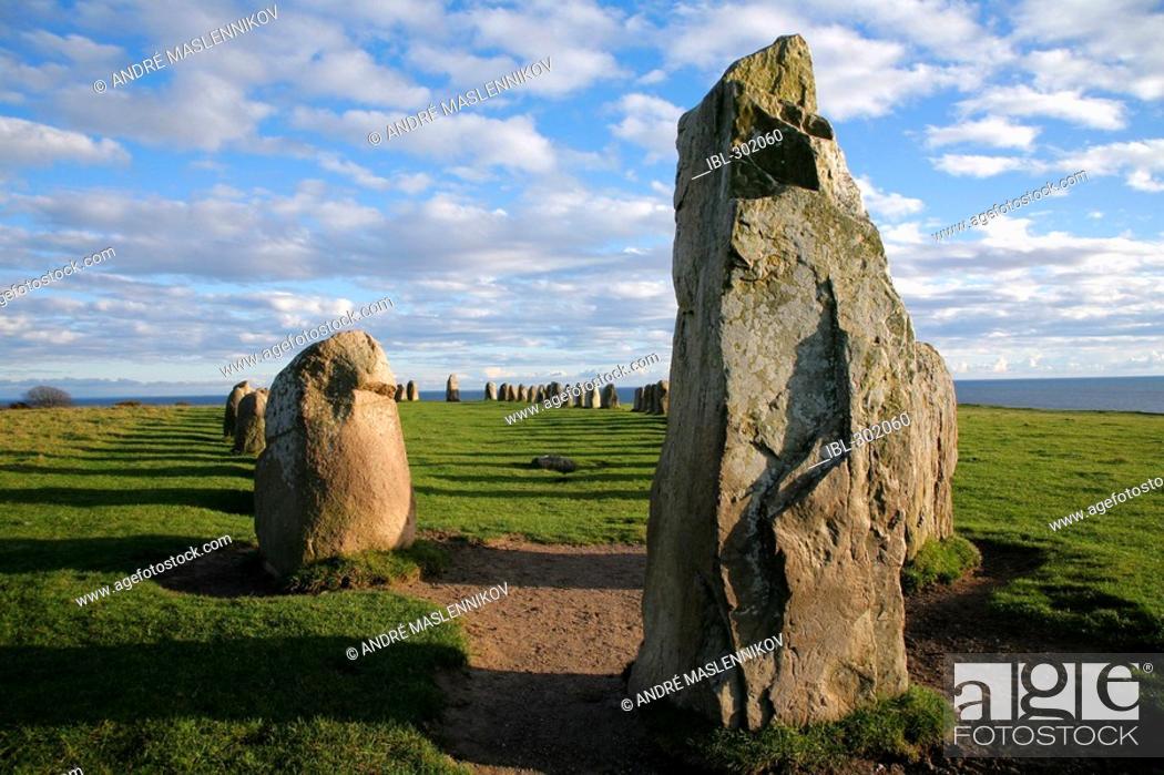 Stock Photo: Ales stenar, Ale's stones.