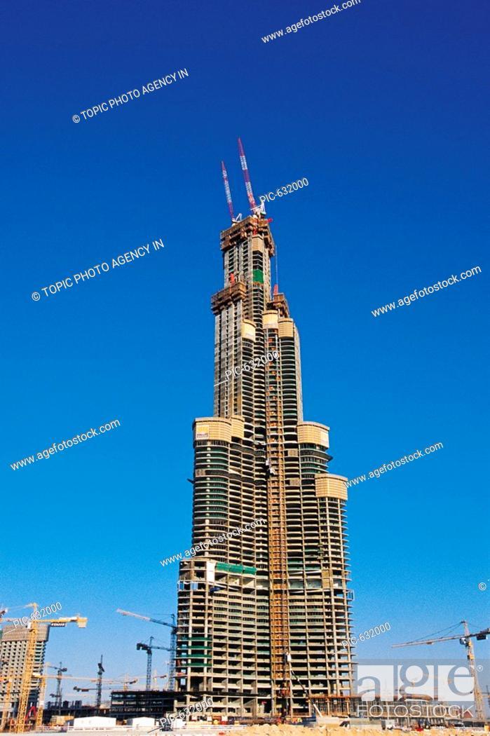 Stock Photo: Construction Site,Dubai,United Arab Emirates.