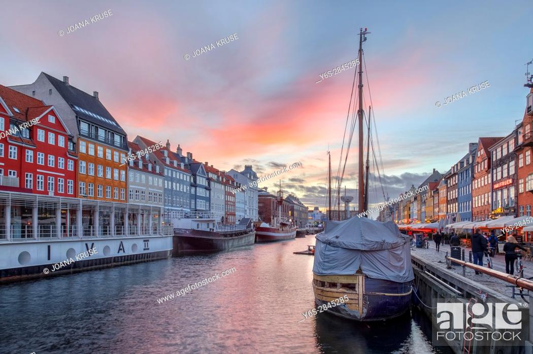 Stock Photo: Nyhavn, Copenhagen, Denmark, Scandinavia.