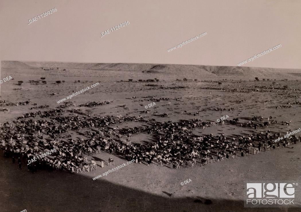 Stock Photo: Forward to Brak. Italo-Turkish War, Libya 20th century.  Rome, Museo Africano (Africa Museum).