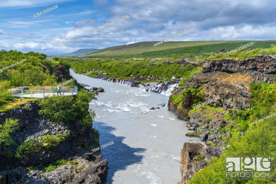 Stock Photo: Hraunfossar, Reykholt, Iceland.