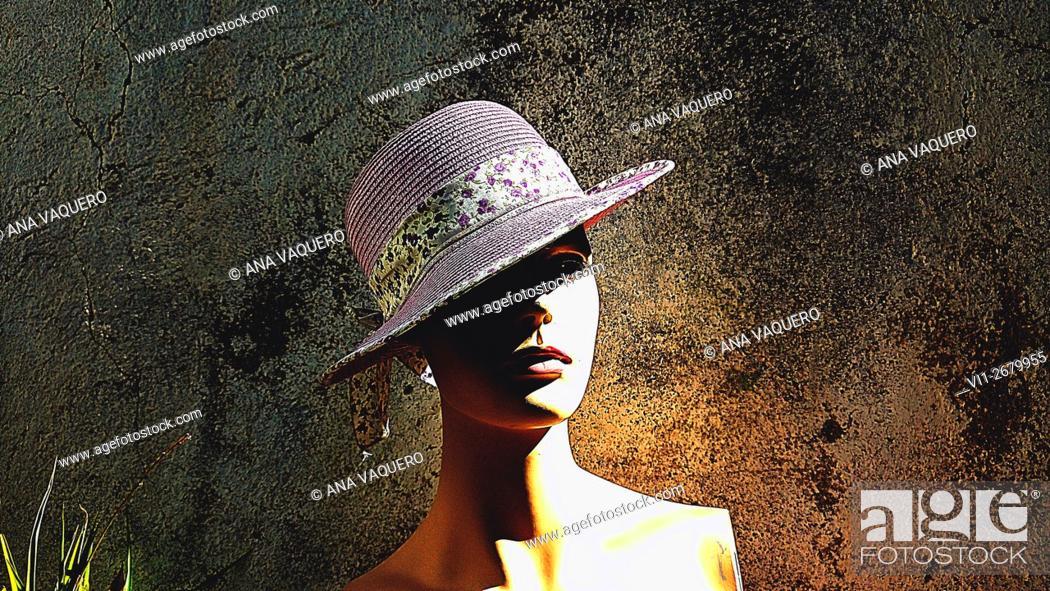 Stock Photo: Mannequin contrasting color, miajadas, Cáceres, Spain.