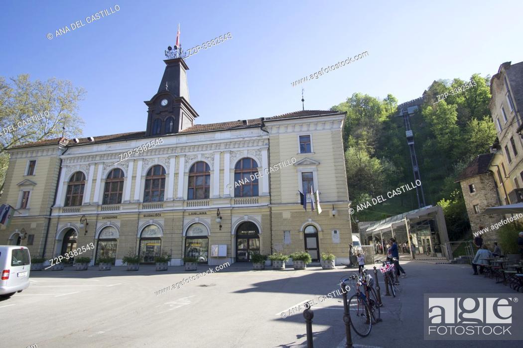 Imagen: Ljubljana Slovenia on April 21, 2019: Cityscape.