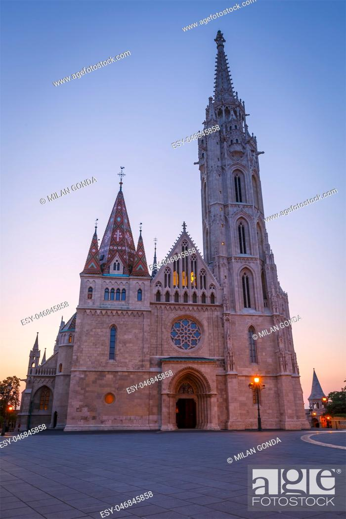 Stock Photo: View of Matthias church in historic city centre of Budapest, Hungary. .