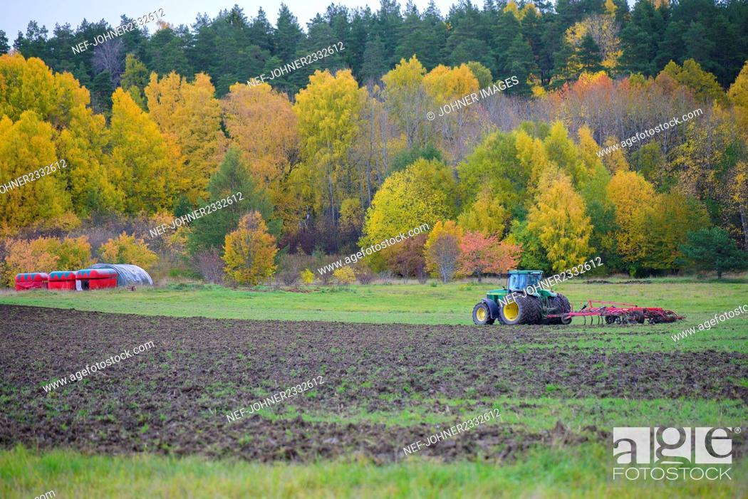 Stock Photo: Tractor on field.