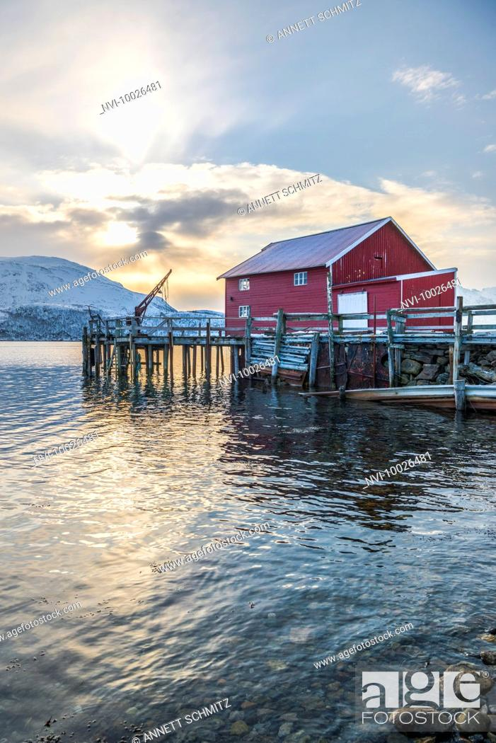 Stock Photo: Skulsfjord on Kvaløya island, Norway.
