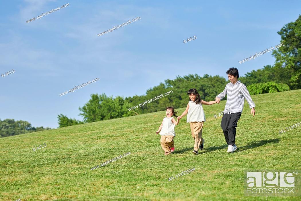 Stock Photo: Japanese family.
