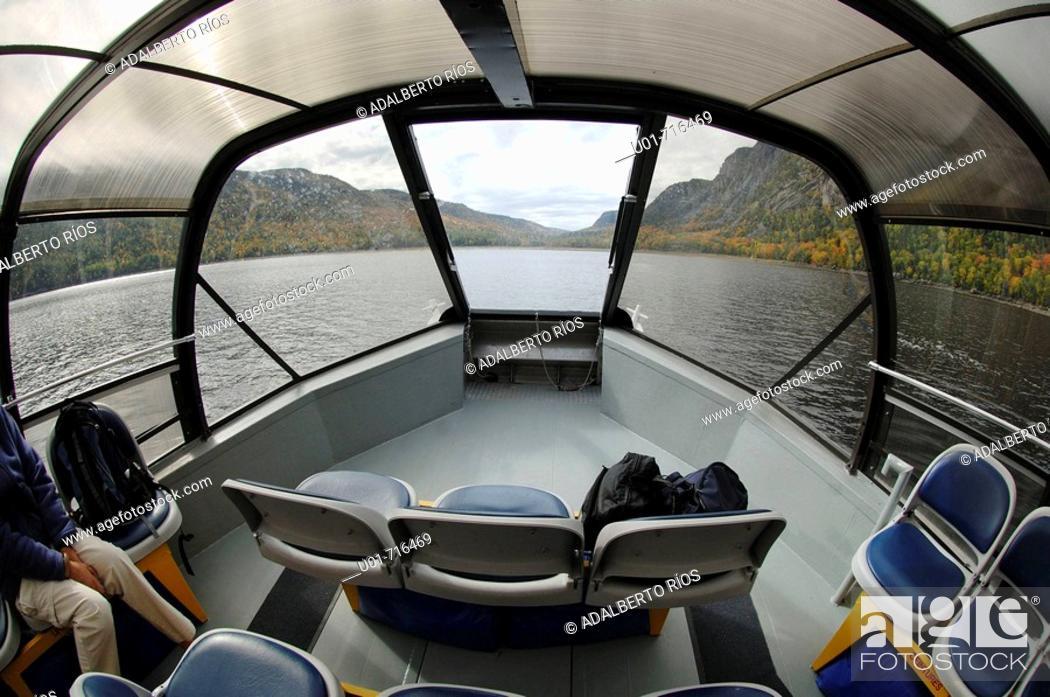 Stock Photo: Tourist boat , Fjord du Saguenay, Quebec, Canada.