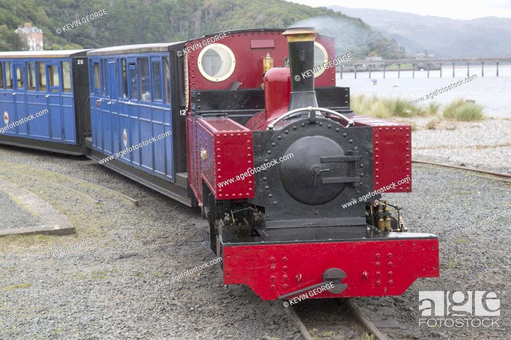 Stock Photo: Steam Train at Fairbourne Railway; Barnmouth; Wales; UK.