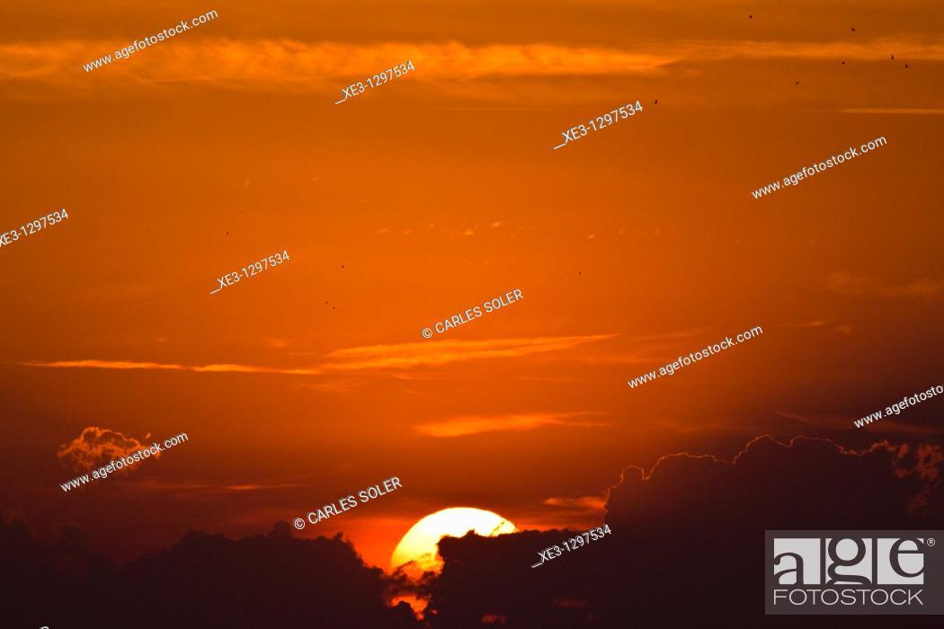 Stock Photo: Sunset in Valencia, Spain.