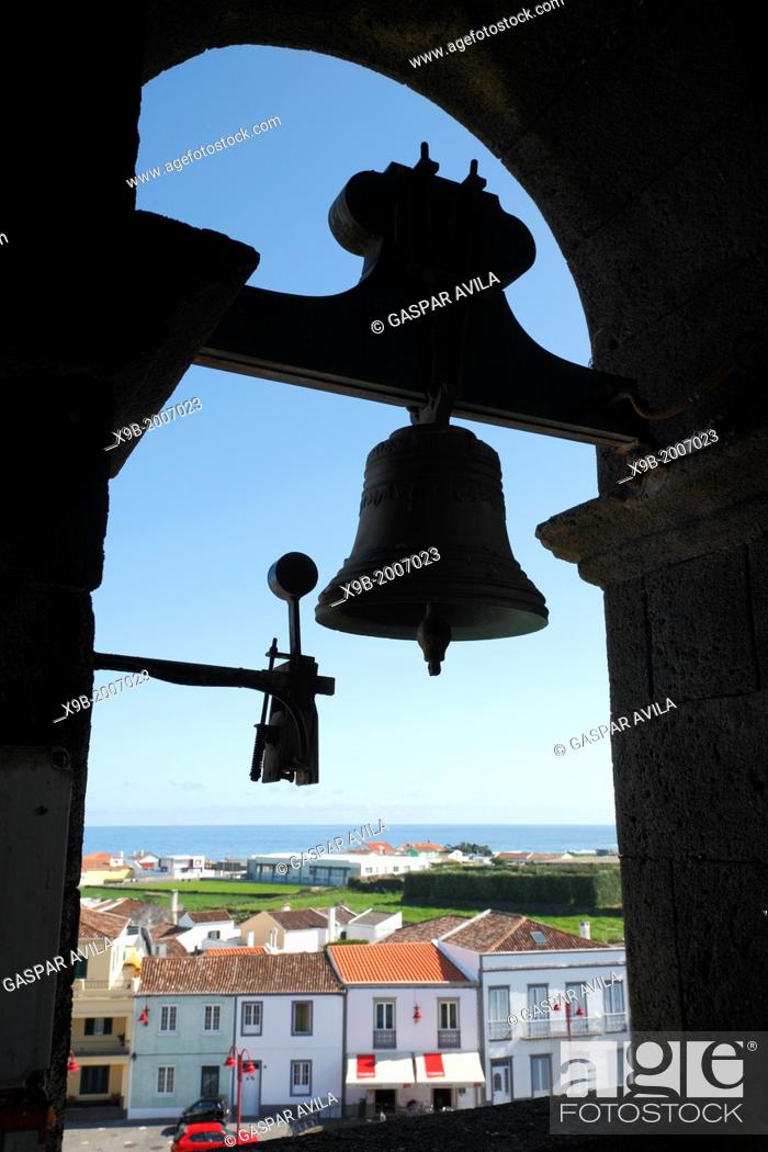 Stock Photo: Bells in a catholic church at the Azores islands, Portugal.