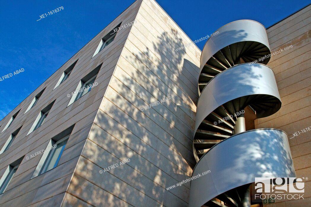 Stock Photo: spiral staircase, hotel Novotel, Cornella de Llobregat, Catalonia, Spain.