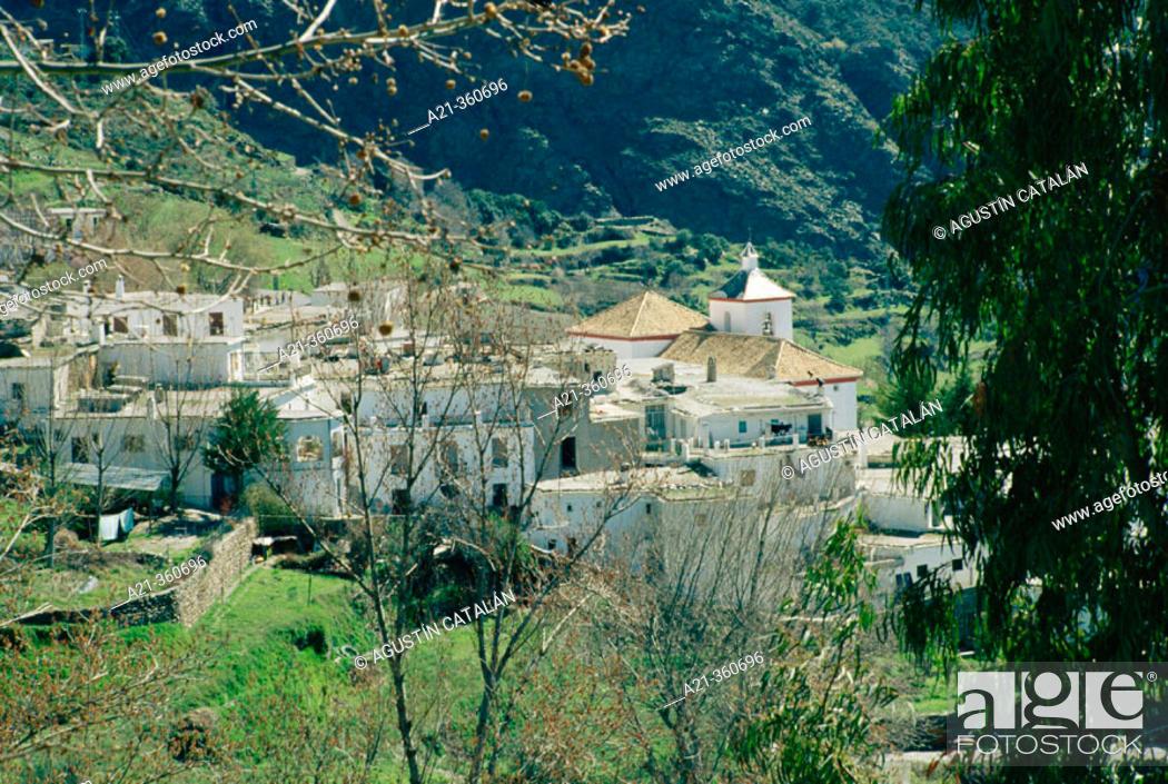 Stock Photo: Bubión village. Alpujarras, Almería province. Andalusia, Spain.