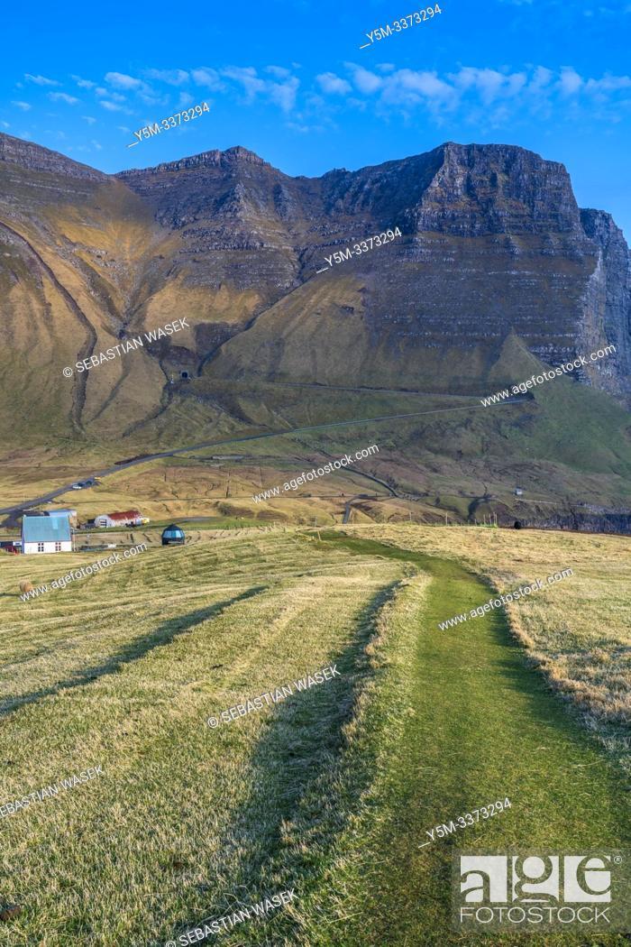 Stock Photo: Gasadalur, Vagar, Faroe Islands, Denmark, Europe.