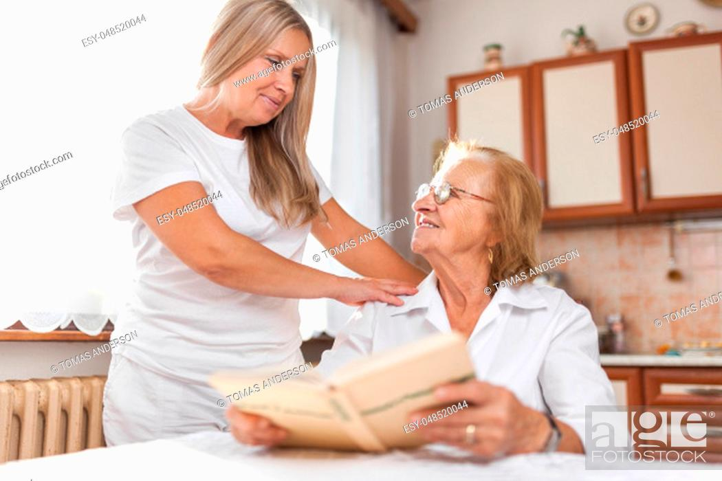Stock Photo: Providing care and support for elderly.