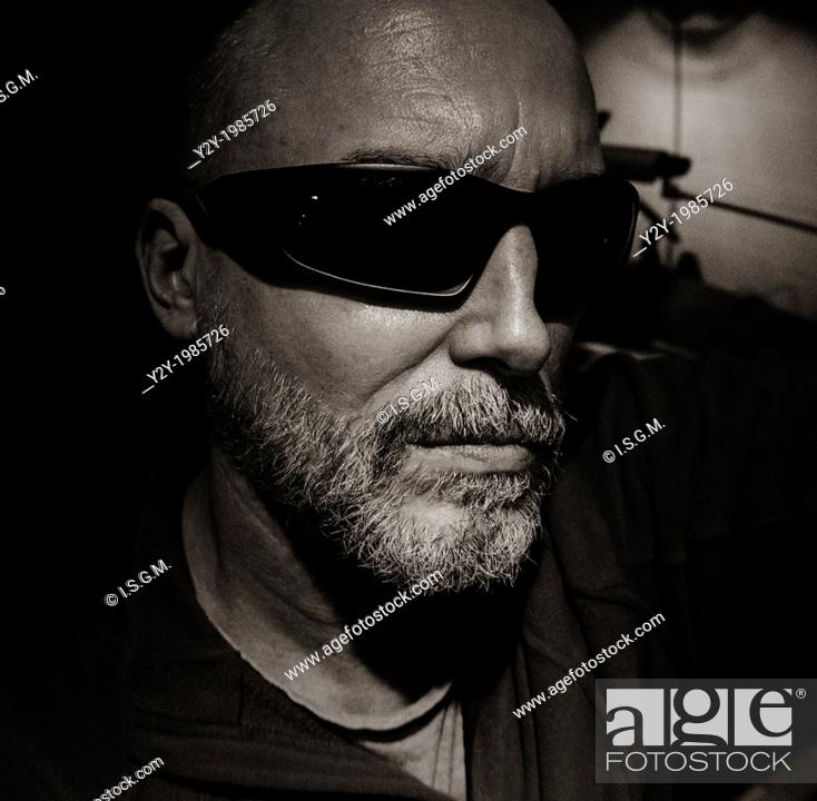 Stock Photo: Man in his fifties with sunglasses.