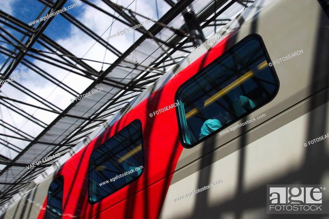 Stock Photo: Blue Sky, Clouds, Commute, Commuter, Compartment.