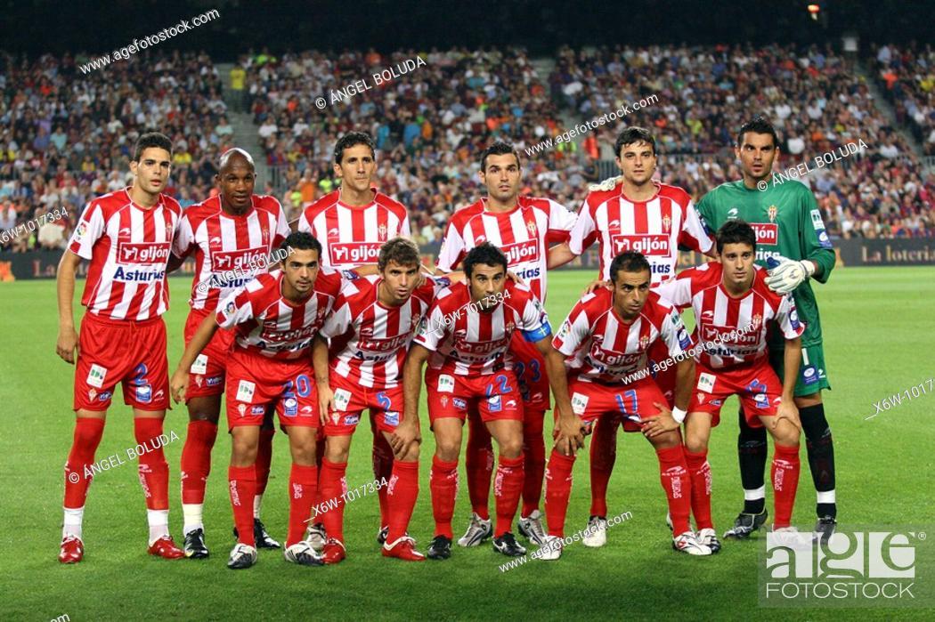 Stock Photo: Spanish League 2009-2010, Sporting de Gijón.