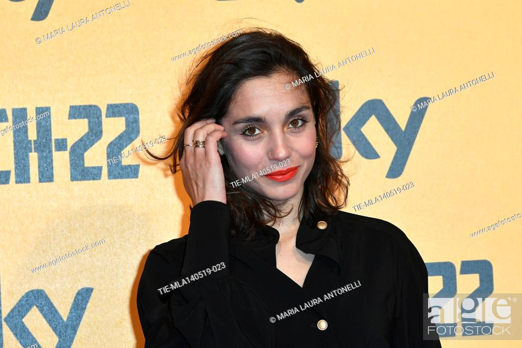 Stock Photo: Cristiana Dell'Anna during the Red carpet for the Premiere of film tv Catch-22, Rome, ITALY-13-05-2019.