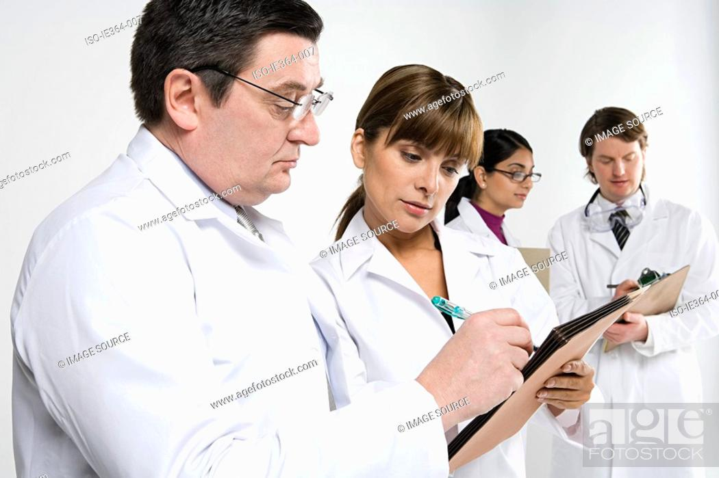 Stock Photo: Scientists.