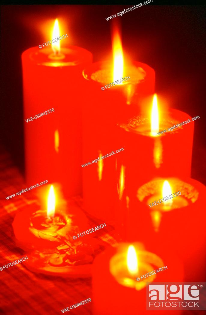 Stock Photo: light, object, candle, film.